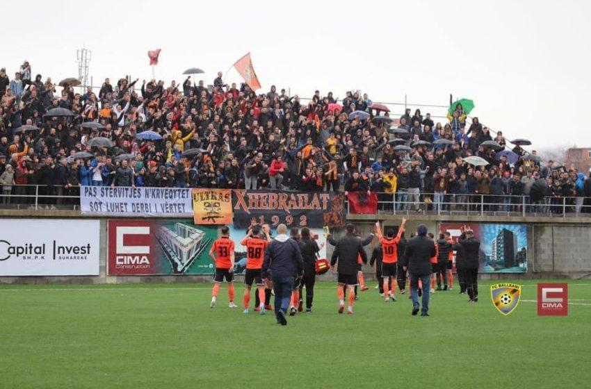 Atmosferë fantastike te Ballkani para ndeshjes ndaj Gjilanit