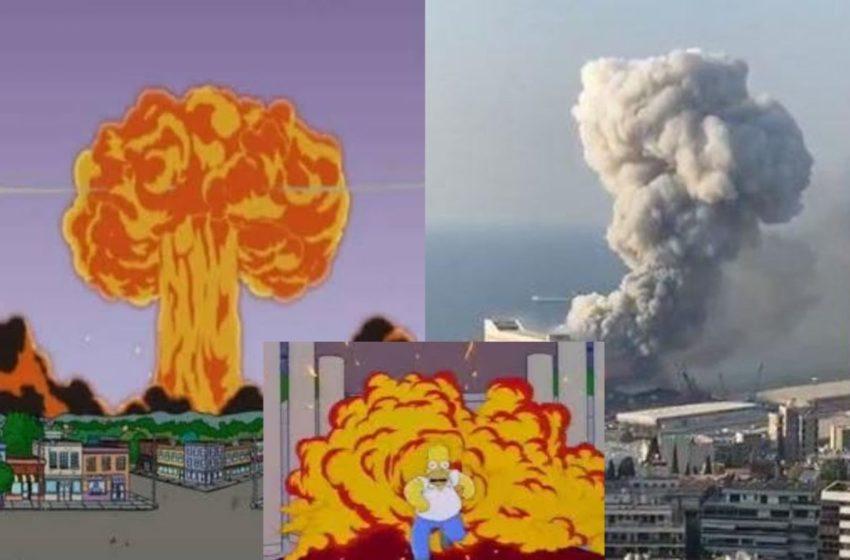 """""""The Simpsons"""" parashikuan shpërthimin në Beirut?"""