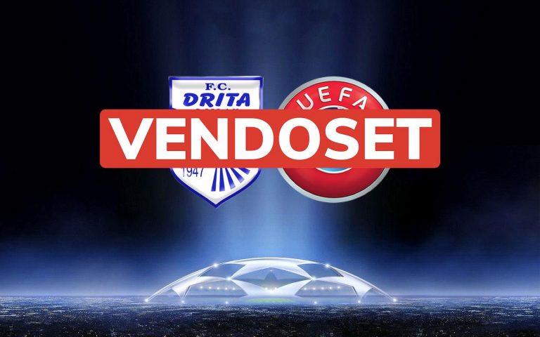 UEFA vendos: FC DRITA humbet ndeshjen në tavolinë me rezultat zyrtar 3:0