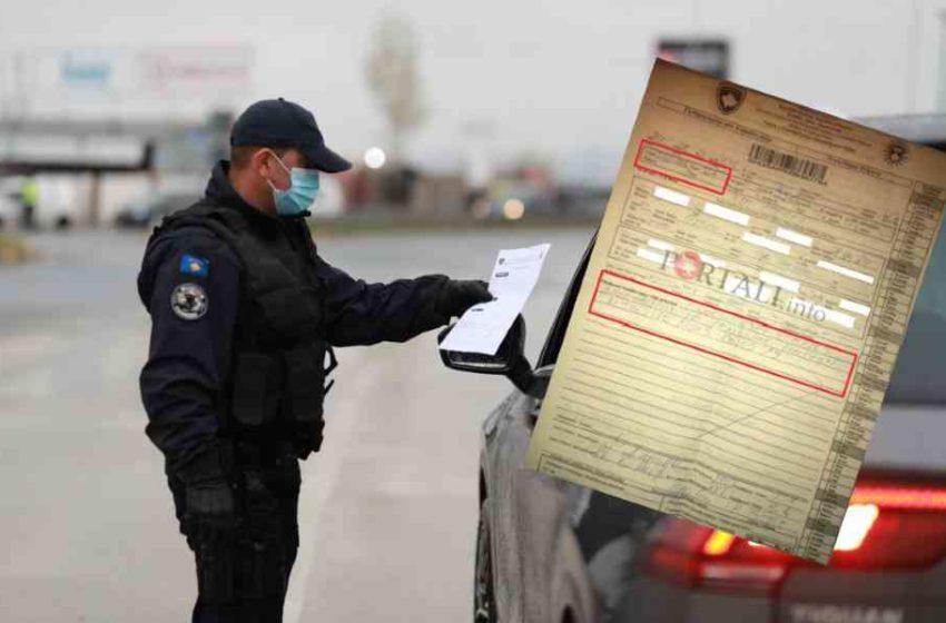 Qytetari gjobitet se nuk e barti maskën gjatë vozitjes, por ja çfarë thotë ligji (FOTO)
