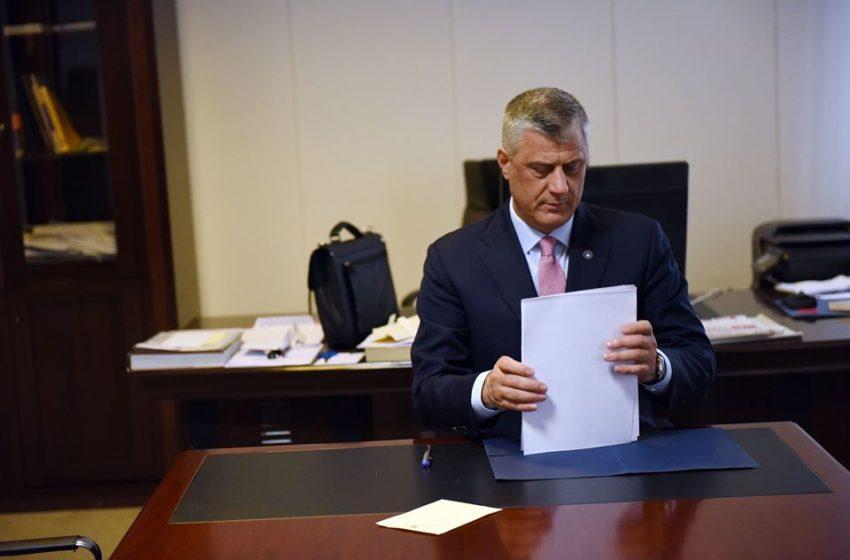 Thaçi dekreton Ligjin për Buxhetin, sëshpejti pritet të ekzekutohen pagesat për qytetarët