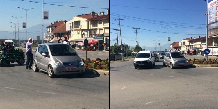 Aksident në mes dy veturave në Shirokë: Veturat goditen në rreth