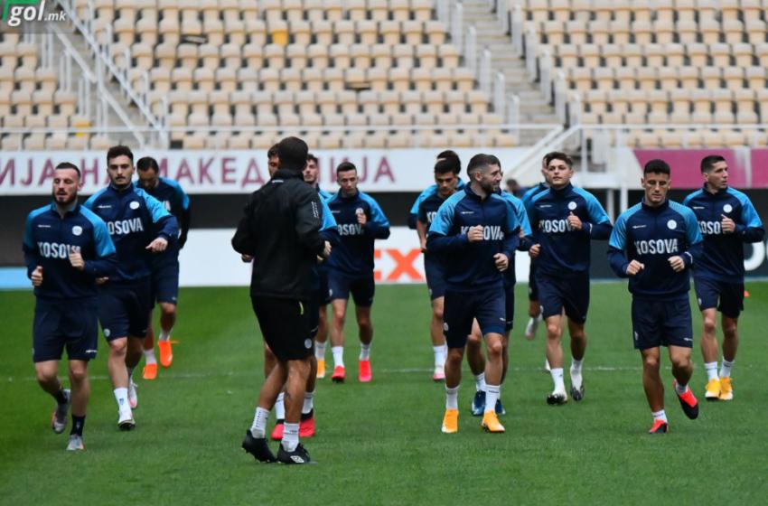 Kombëtarja e Kosovës zhvillon stërvitjen e fundit para ndeshjes me Maqedoninë e Veriut