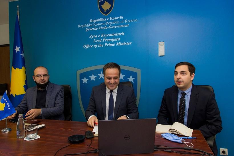 Zv.kryeministri Driton Selmanaj takohet shefin e zyrës së BE-së z.Tomáš Szunyog
