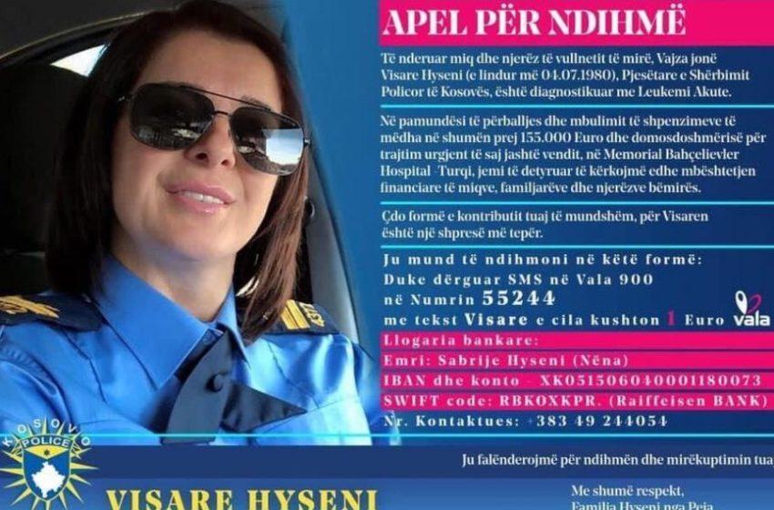 Policja e Kosovës diagnostikohet me leukemi akute, kërkon ndihmën e njerëzve vullnetmirë