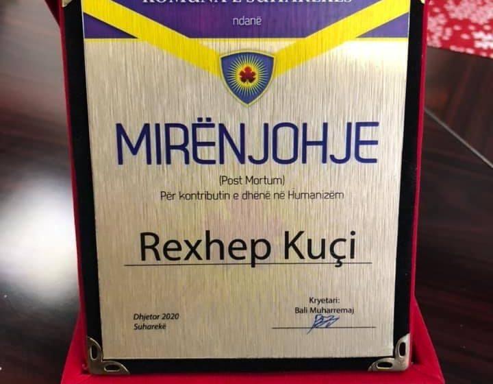Rexhep Kuçi nderohet me mirënjohje- Post Mortum