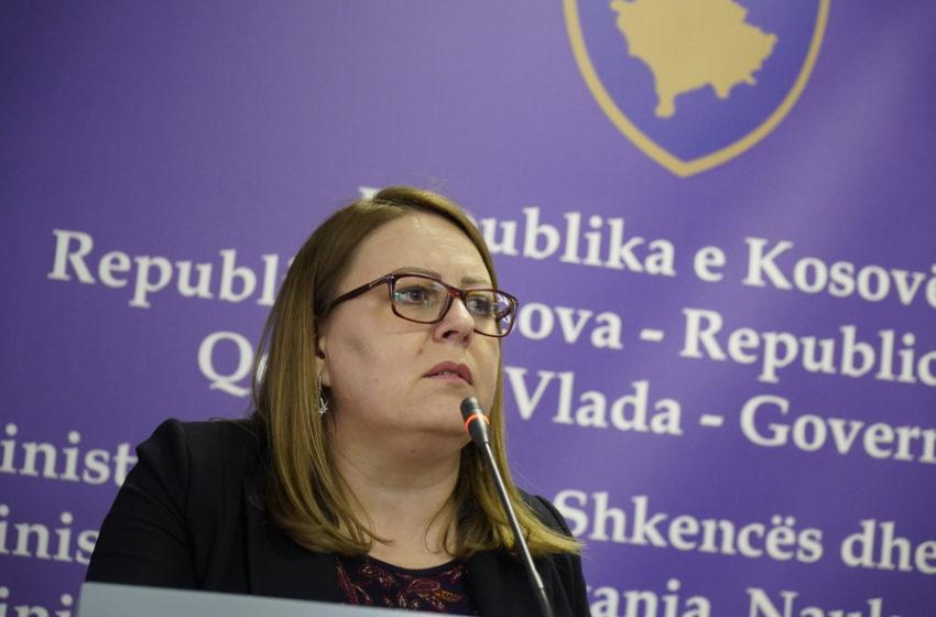 Hykmete Bajrami dorëhiqet nga detyra e ministres së Financave