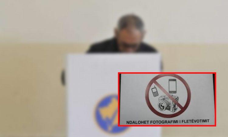 Një qytetar në Prizren fotografon votën, shoqërohet në Polici