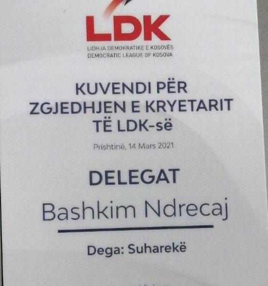 Delegati nga Suhareka përkrah haptas Abdixhikun për kryetar të LDK-së